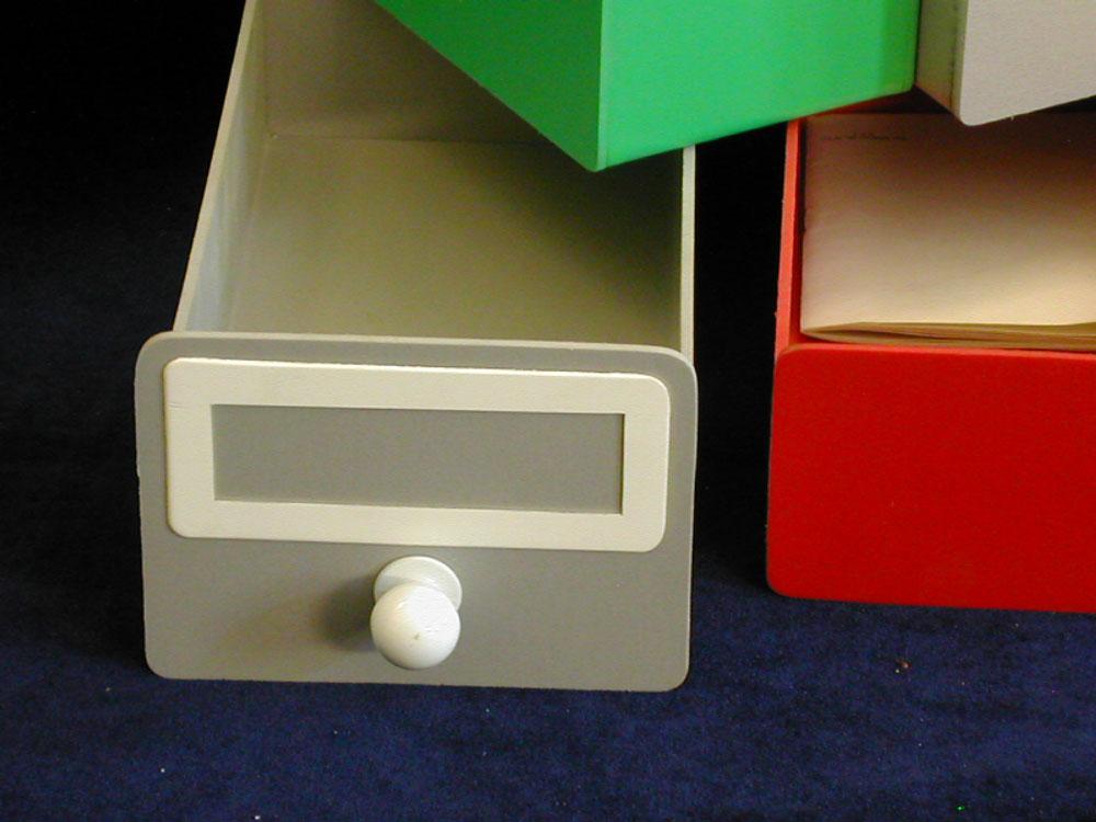 Каталожные ящики, разделители, стеллажи изготовление нестанд.